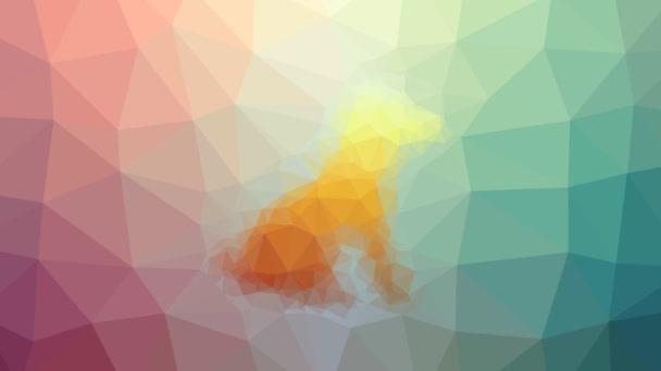 pes silueta rozpouštění moderní tessellating smyčka pohybující se mnohoúhelníky