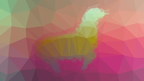 těsnění objevují technologické tessellating smyčka animované trojúhelníky