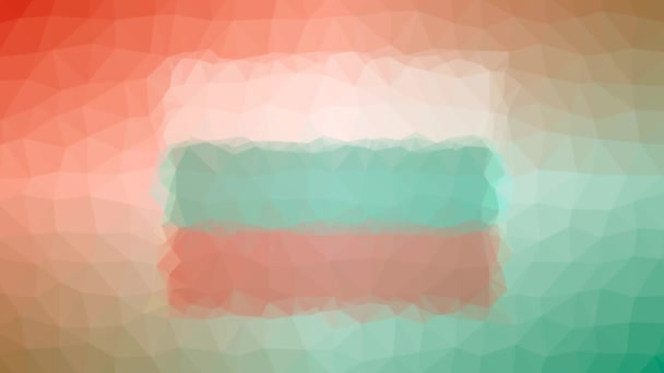 Bulgaria Flag ISO:BG dissolving modern tessellated looping pulsing triangles