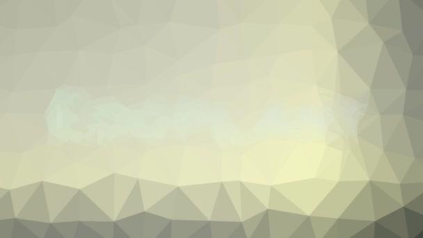 Tojásgyümölcs techno tessellált pulzáló háromszögek megjelenése