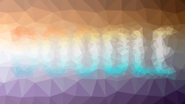 Doodle megjelenő érdekes tessellating hurok mozgó háromszögek