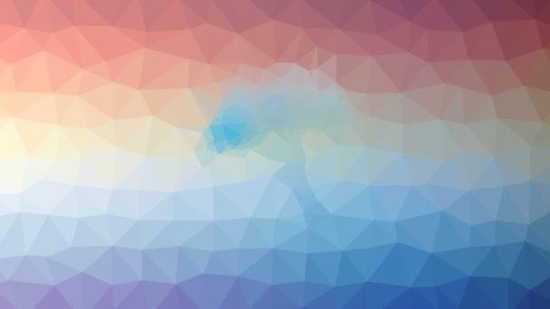 plážový slunečník vyblednout technologické tessellation smyčka pohybující se trojúhelníky