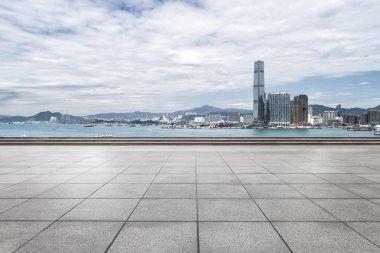 office buildings in Hong Kong from floor