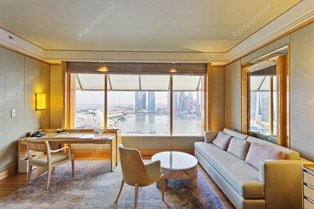 Moderne kamer interieur met luxe decoratie u stockfoto zhudifeng