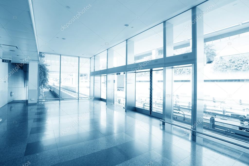 Ufficio Di Entrata : Ufficio vetro entrata porta interior edificio hall moderno