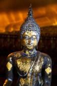 Fotografie starověké buddha socha detail