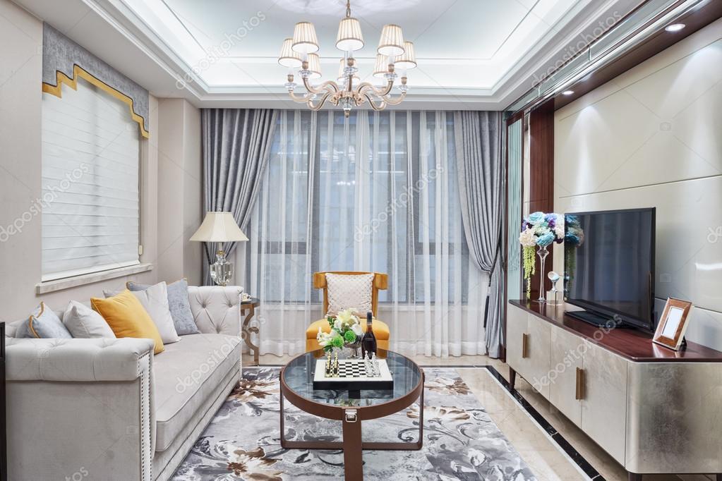moderne woonkamer luxe decoratie interieur — Stockfoto © zhudifeng ...