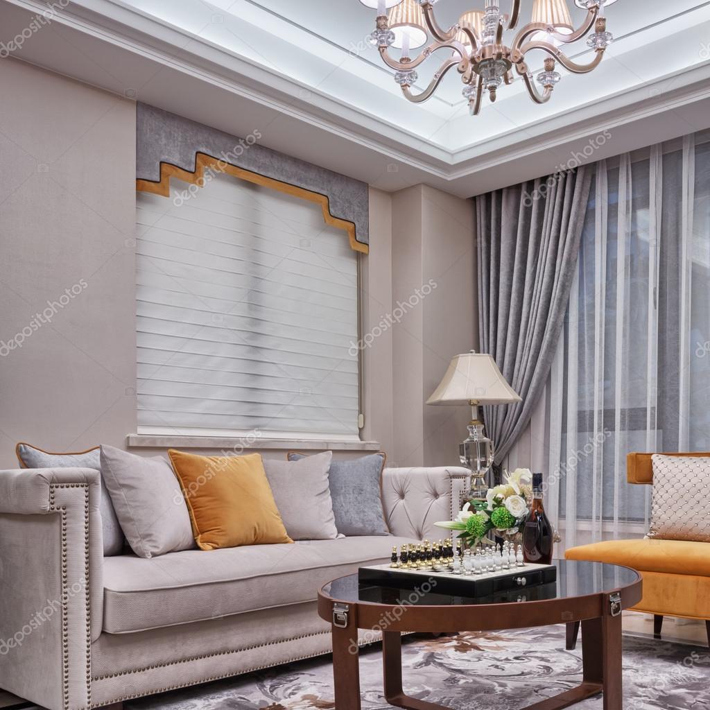 woonkamer luxe decoratie interieur — stockfoto #53707493, Deco ideeën
