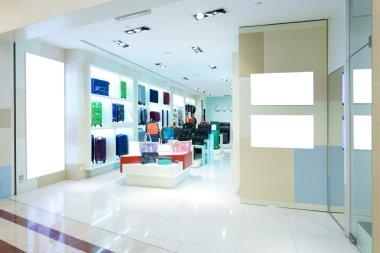 Handbag store interior