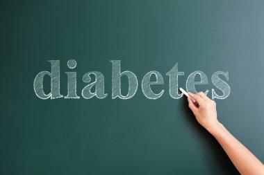 diabetes written on blackboard