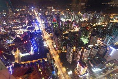 Cityscape of modern city Shenzhen at night