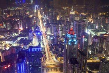 Cityscape landscape of modern city Shenzhen at night