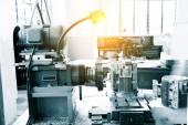 Fotografie Industrie-Drehbank Maschine detail