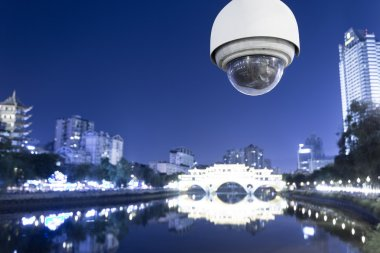 outdoor cctv and cityscape