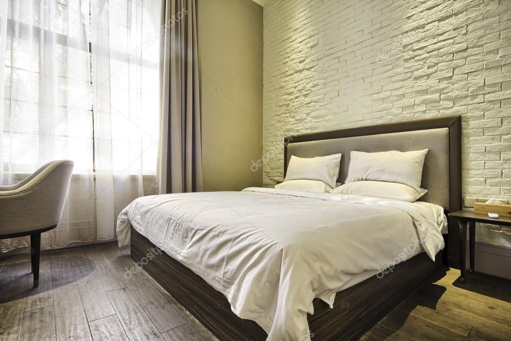 Moderne slaapkamer met decoratie u stockfoto zhudifeng