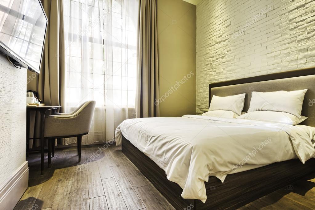 Moderne slaapkamer met decoratie u2014 stockfoto © zhudifeng #74342337