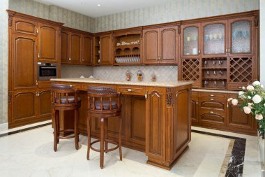 luxury kitchen interior and decoration