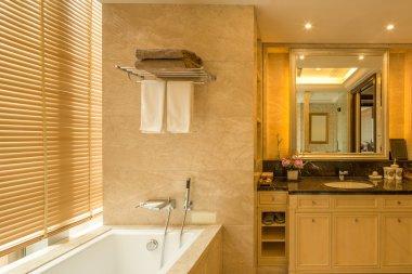Luxury hotel bathroom interior