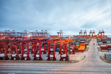 Industrial port at the Port of Shanghai