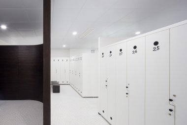 interior of modern dressing room