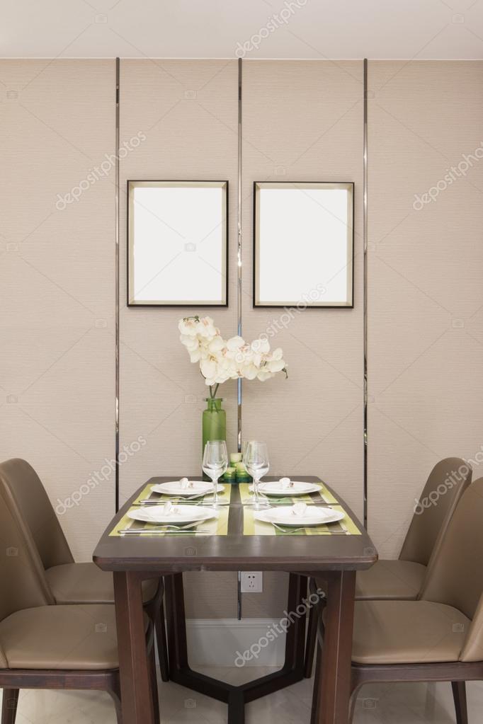 decoración y muebles de comedor modernos — Fotos de Stock ...