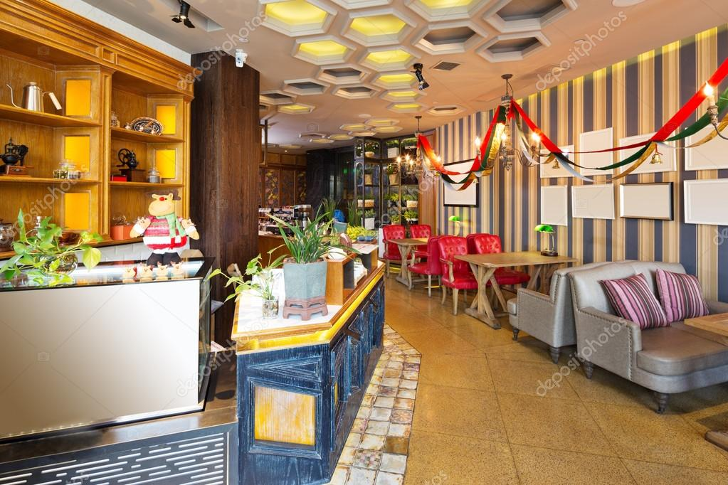Interieur van moderne café u stockfoto zhudifeng