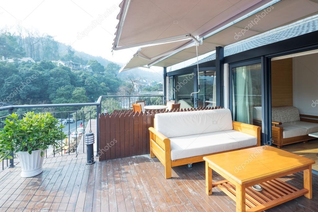 Innere des modernen balkon u stockfoto zhudifeng