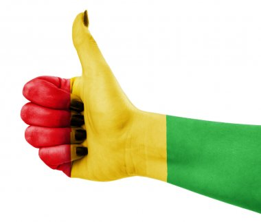 Colors of reggae applied on hand