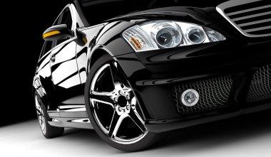 Black car isolated