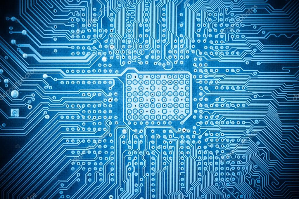 blue  puter circuit board texture stock photo