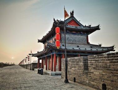 xian ancient tower closeup