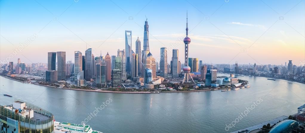 Фотообои shanghai skyline panoramic view