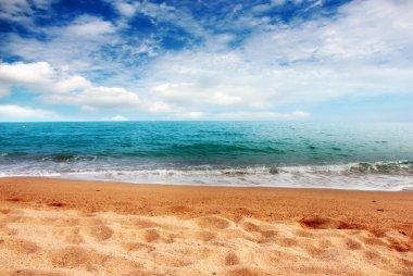 Solar scene beach