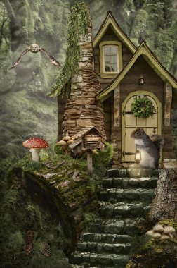 fairy house (stump)