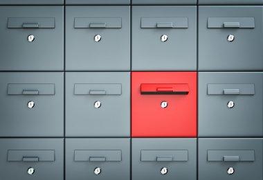 Mailboxes. Different metaphor