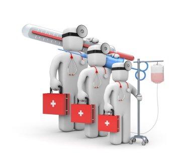 Medical team. 3d illustration