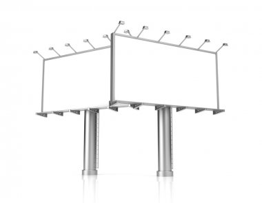Blank billboards for advertisement