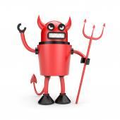 Fotografie robot jako ďábel