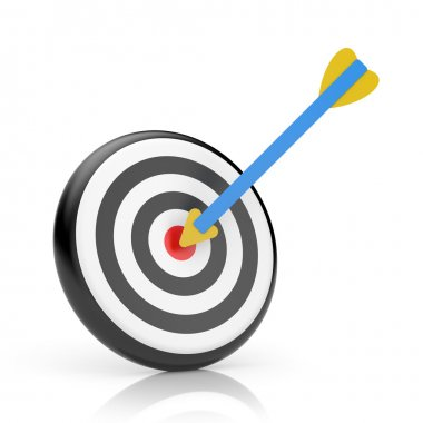 3d target with arrow