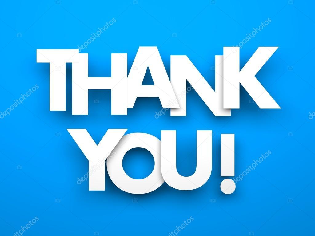 Thank You On Blue Stock Photo C Pixelery Com 75976325