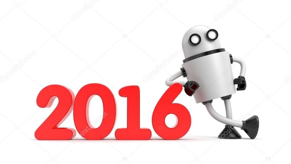 Robot leaning on 2016