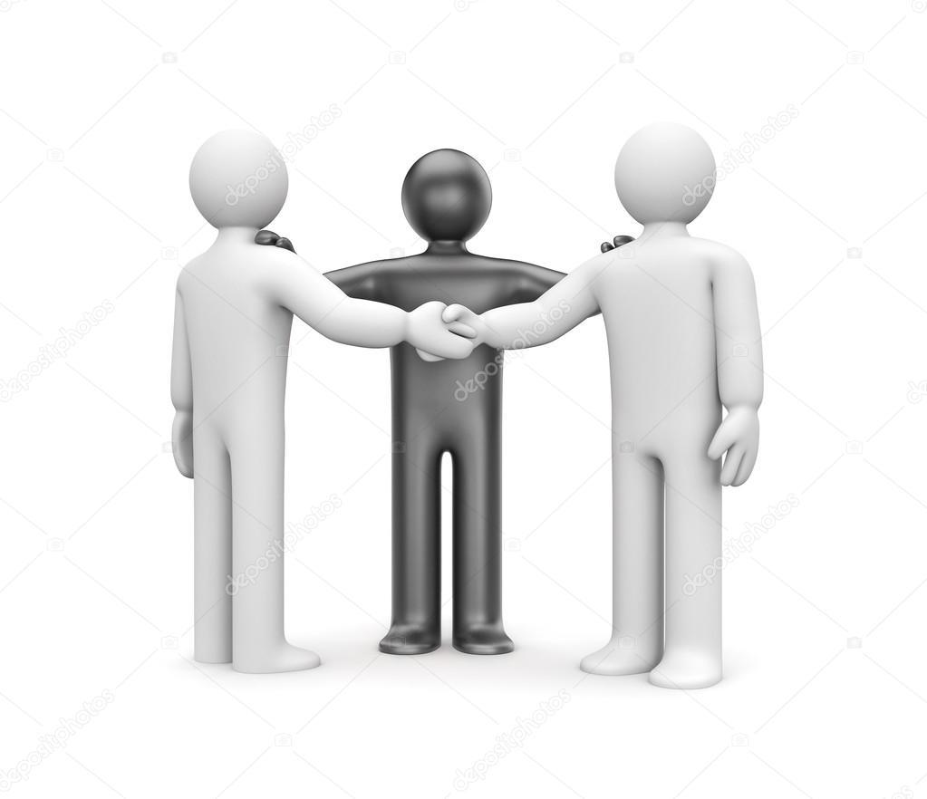 Geschäftsvereinbarung mit Vermittler — Stockfoto © Pixelery.com ...