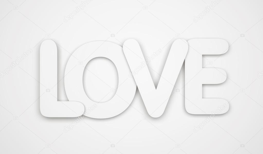 Love - word isolated on white background stock vector