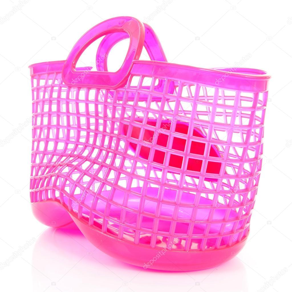 Berömda Rosa plast shopping väska med hål — Stockfotografi © sannie32 IA-45