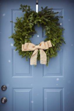 Festive Wreath on front door