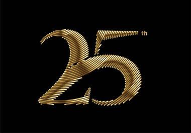 25th Years Anniversary Celebration Design. vector design. icon