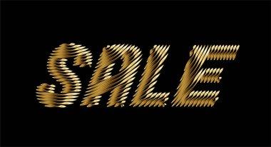 Sale Text Gold Modern Trendy Design Template . Vector design icon