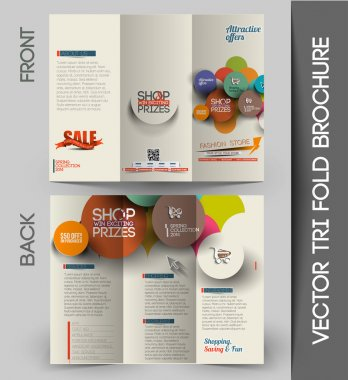 Shopping center Tri-fold Brochure