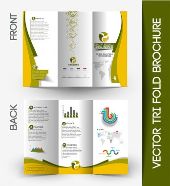 Tri-fold Brochure Design Element