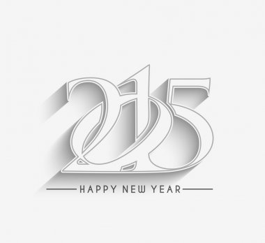 Happy new year 2015 Text Design